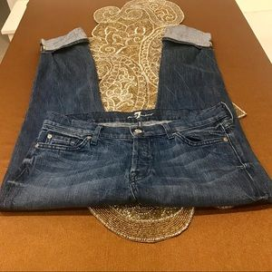 7 for all mankind cropped embellished jeans